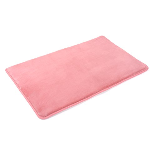 Memory Foam Bathrug – Pink (Coral) Bath Mat and Shower Rug Small 17