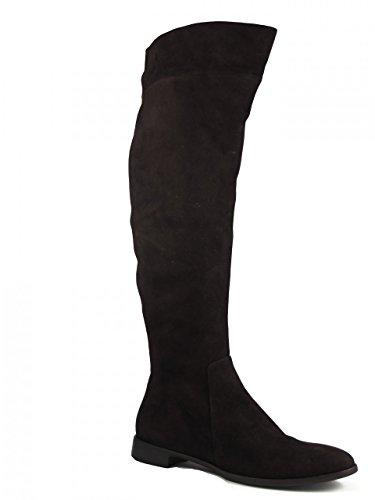 Italian Boots Women's Julie Knee 4467 Dee Brown Leather Suede high Flat tBx8OZ