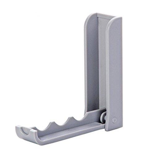 Kanzd Folding Door Back Space Saving Clothes Hanger Hook Rack For Bathroom Bedroom Wall Door Hook (B) ()