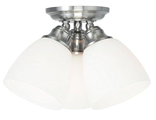 Livex Lighting 13664-91 Somerville 3-Light Ceiling Mount Brushed Nickel  sc 1 st  Amazon.com & Livex Lighting 13664-91 Somerville 3-Light Ceiling Mount Brushed ...