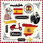 Scrapbook Customs - 12 x 12 Cardstock Stickers - Spain - Scrapbooking Spain