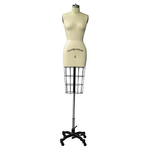 - Professional Female Half Body Dress Form with Collapsible Shoulder (Size 6)