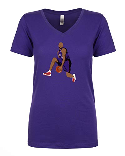 Purple Toronto Carter The Dunk Ladies V-Neck T-Shirt Adult ()