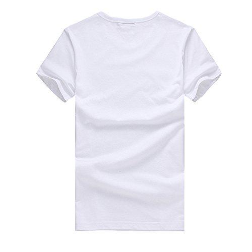 Corte Camicia Maglione shirt Manica Elegante Homebaby® Estiva Cotone Tumblr Vintage Sportivi Magliette Stampa Casual Stretch T Uomo Bianco Particolari Maglietta Corta 4dwHzFqH