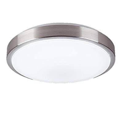 ZHMA 8-Inch LED Ceiling Lights, Flush Mount Lighting Round,4500K Natrual White,12W 880LM 80W Incandescent Bulbs Equivalent(AC85V-265V),Closet Light,Ceiling Lighting for Kitchen Bathroom Dining Room - 【Save electricity bill】: Non-dimmable led ceiling lights flush mount Replace 60W Incandescent bulbs by 12W LED flush mount ceiling light. Save 85% on electricity bill of lighting 【Plastic Material】:High quality plastic material light cover, Three times led beads, Back led driver design, providing the best distance from the light cover to the led beads, anti-glare lampshade with best light transmission. 【Long life】Extremely long life reduces re-lamp frequency. Save your effort to replace bulbs in high ceiling.Energy saving and Use for a long time:Brightness Degradation Is Less Than 0.1% per 1000 hours. - bathroom-lights, bathroom-fixtures-hardware, bathroom - 31BrWZ9Bs3L. SS400  -