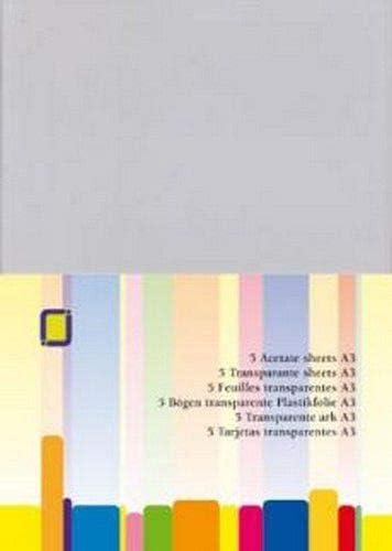 Acetat-Folien A3Klebeband, Mehrfarbig, Packung mit 5Stück