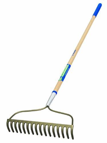 Truper 33169 Garden Pro Welded Bow Rake, 16-Teeth, Ash Handle by Truper