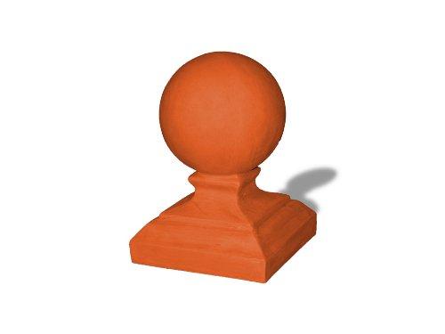 Terra Cotta Finial (Amedeo Design ResinStone 1700-5T Round Cap Finial, 10 by 10 by 17-Inch, Terra Cotta)