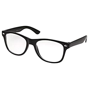 Kids Nerd Glasses Clear Lens Geek Costume Black Frame Children's (Age 3-10)