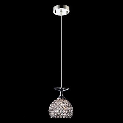 hua Contemporary and Chic Half Globe Crystal Beads Embedded Mini Pendant