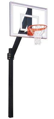 最初チームLegend Jr。III steel-acrylic in ground固定高さバスケットボールsystem44 ;サドルブラウン B01HC0B9QY