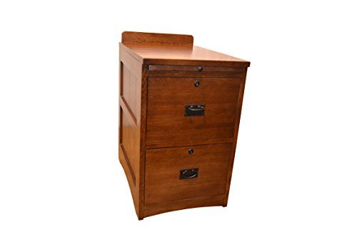 Crafters and Weavers Mission Oak File 2 Drawer File Cabinet / Office Cabinet with Writing Tray by Crafters & Weavers
