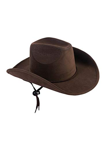 Forum Novelties Men's Child Suede Cowboy Hat, Brown, Standard]()