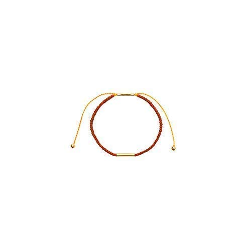 Irena Adjustable Bracelet with Terra Cotta Glass and Brass Beads | from Son of a Sailor (Terra Cotta Brass)