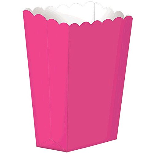 Fun Party Small Popcorn Favour Boxes, Bright Pink, Paper 5