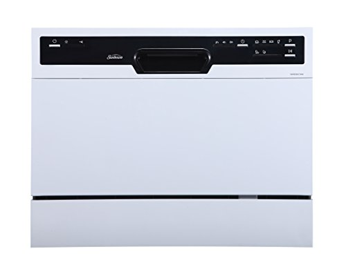 Sunbeam DWSB3607WW Portable Countertop Dishwasher with Rinse Aid Dispenser