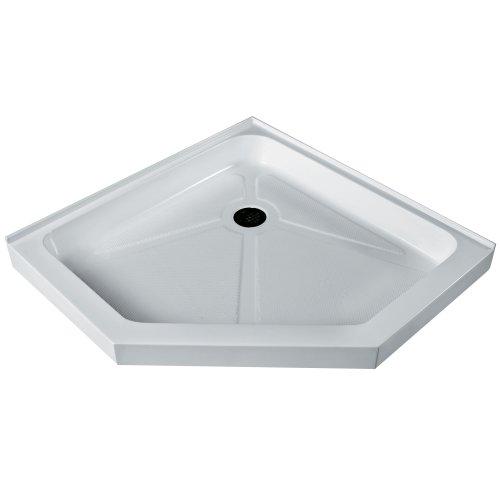 VIGO 36 x 36-in. Short - Low Profile Neo-Angle Shower Base, White