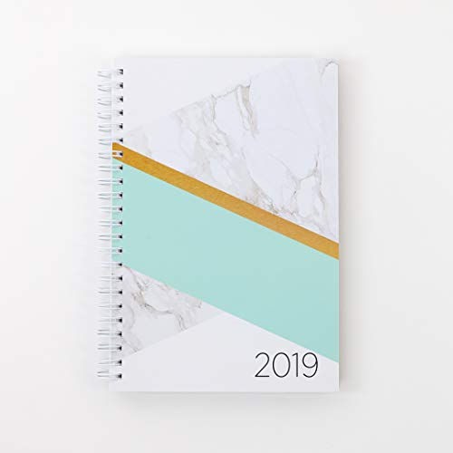 2019 Monthly Weekly Planner Calendar Appointment Book, 5.5 x 8 inches, Premium Paper, Chic Fashionable Elegant (AJWP-203)