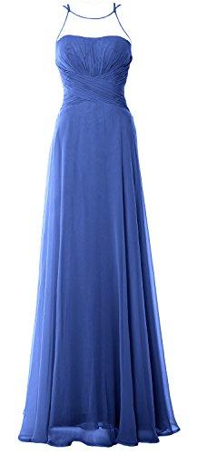 Bridesmaid MACloth Horizon Elegant Chiffom Formal Gown Prom Long Halter Dress Simple q6twpB6r7