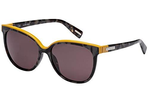 ab8e43f4d Óculos de Sol Victor Hugo Sh1762 09sx/55 Preto Mesclado/amarelo ...