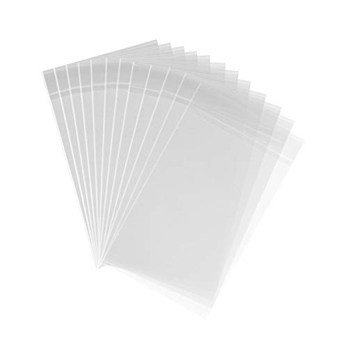 200ct Adhesive Treat Bags 5 x 7 Clear - 1.4 mils Thick Self Sealing OPP Plastic Bags/Clear Flat Resealable Cello/Cellophane Bags (5