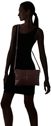 Spikes & Sparrow Zip Bag - Bolsos bandolera Mujer Marrón (Dark Brown)