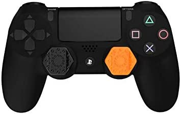 Pro-Hex Thumb Grips - PS4 - 2 Orange / 2 Black Pack: Amazon.es ...
