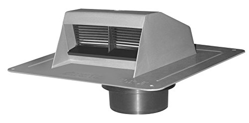 Duraflo 6011G Exhaust Vent with Flap and ATT Collar, Grey