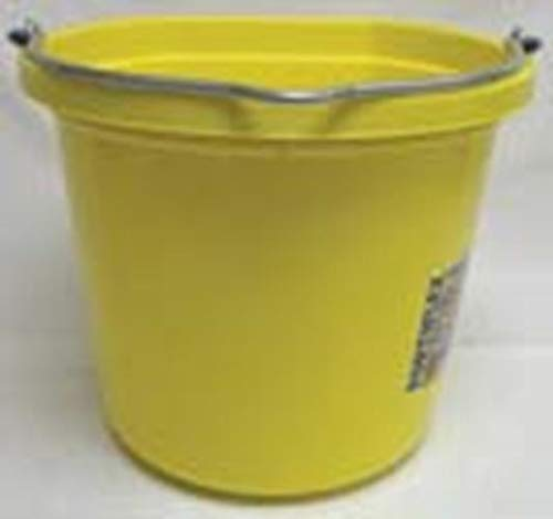 - Fortiflex Flat Back Feed Bucket for Dogs/Cats and Small Animals, 20-Quart, Mellow Yellow