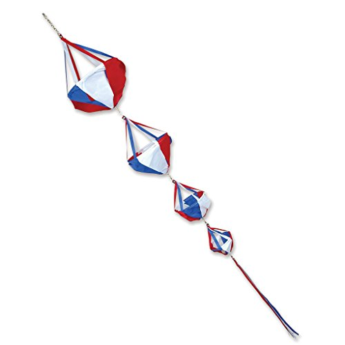 Premier Kites 22622 Wind Garden Spinnies Set, Patriotic, Deluxe