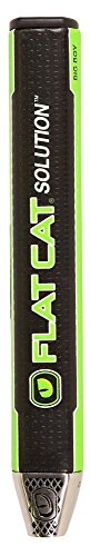 2017 Lamkin Putter Grip Flat Cat Solution Black/Lime Fat New ()