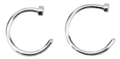 - Forbidden Body Jewelry 18g 8mm & 10mm Surgical Steel Perfect Basics Comfort Fit Nose Hoops