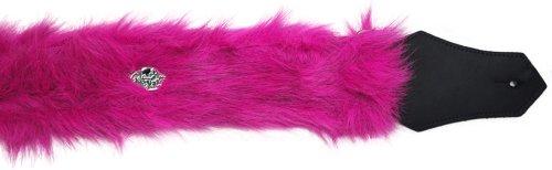 - Get'm Get'm Wear 2-Inch Guitar Strap (Pink Faux Fur)