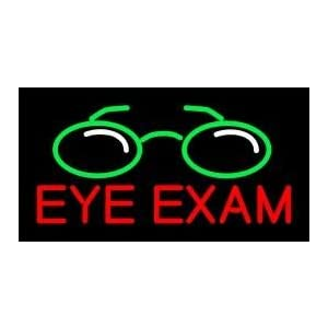 Neon Light Sign Metal Frame EYE EXAM Handcrafted glass tube neon sign 24(w)insx20(h) ins Neon Sign Lights Beer Bar Pub sign Windows Glass Wall Signs