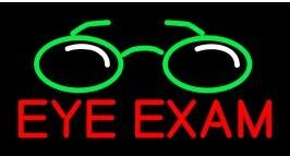 Eye Exams Led Sign (EYE EXAM Handcrafted glass tube neon sign 24(w)insx20(h) ins Neon Sign Lights Beer Bar sign)