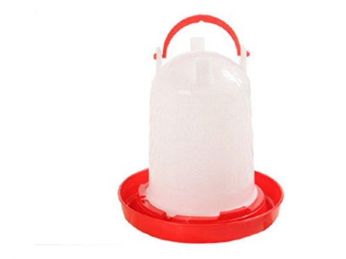 Yunqir Suitable Chick Drinker Drinking Fountain Economy Feeder-Red and White