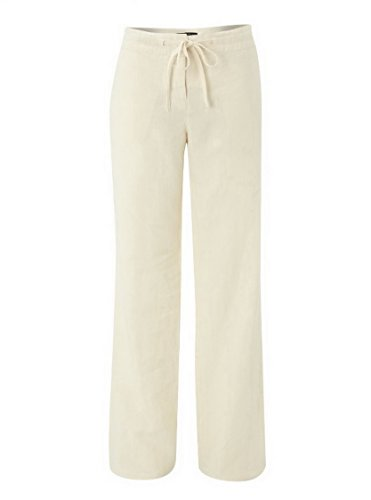 weekend-maxmara-womens-linen-drawstring-relaxed-fit-pila-pant-sz-8-vanilla-120917mm