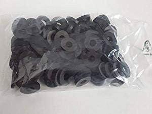 Rondelles M6 16 x 3 Noir Rondelles en caoutchouc Lot de 100 rondelles en caoutchouc