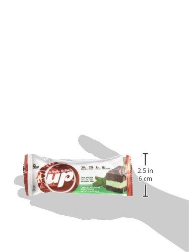 YUP Brands B-Up Protein Nutritional Bar, Chocolate Mint, 12 bars, 2.2 Ounce each