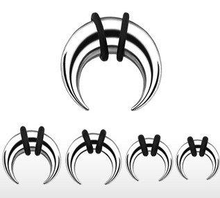 Buffalo - Piercing dilatador (1,6-8 mm), diseño de cuerno: Amazon.es: Deportes y aire libre