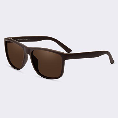 Vintage Gafas TIANLIANG04 Retro de polarizadas Guía hombres sol macho Gafas gafas gafas de C02Brown Mirror C01gris sol HxFBxw0q