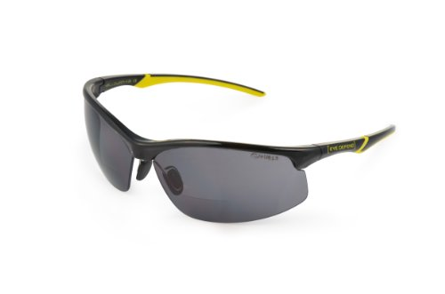 Optx 20/20 Eyedefend Yellowfin Safety, bifocal lens, Smoke, +100, ANSI - One Z Eyewear