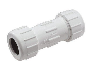 NDS CPC-0500 1/2-Inch Compression PVC Compression Coupling, Gray