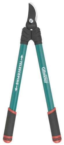 Gilmour Telescoping Bypass Lopper 1-1/4 Inch Cutting Capacity 1155 Teal Telescoping Lopper