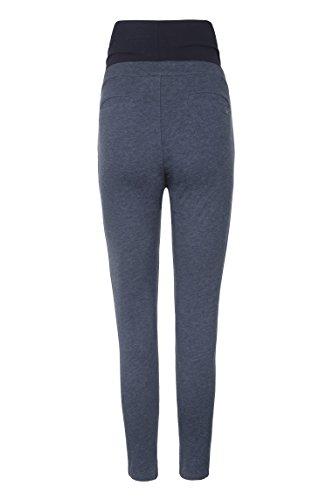 Hose Pantaloni Überbauchbund Melange Blau 8024 Bellybutton M Donna night dqHZd7