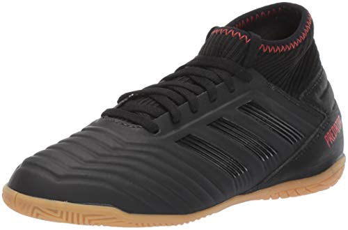 adidas Unisex Predator 19.3 Indoor, Black/Active red, 5 M US Big Kid