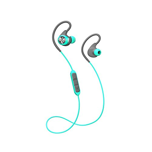 JLab Audio Epic2 Bluetooth 4.0 Wireless Sport Earbuds - Teal - GUARANTEED fitness, waterproof IPX5 rated, pristine high-performance 8mm sound drivers, 12 hr play time w/ microphone (Certified Refurbis by JLAB (Image #1)