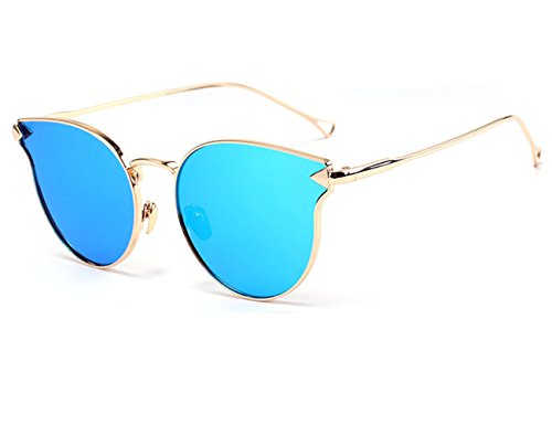 Konalla Cat Eye Reflective UV Protective Personalized Arrow Sunglasses - In Creek Walnut Shops Ca