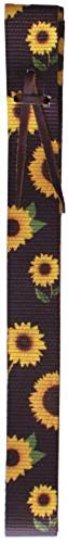 Showman Brown Nylon Tie Strap with Sunflower Design