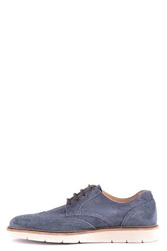 Hommes Hogan Mcbi148522o Daim Bleu Chaussures À Lacets